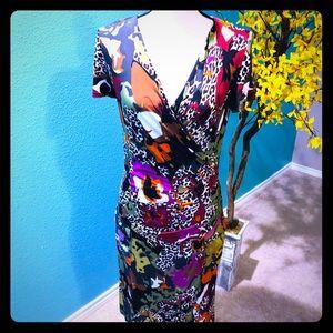 MaxMara body con faux wrap dress